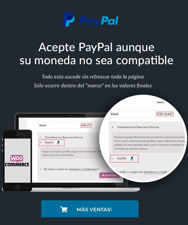 PayForce, Habilita PayPal para todas las Monedas en la Pagina de Pago - Woocommerce 2